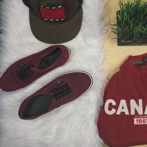 Vans Burgundy Low Tops Unisex